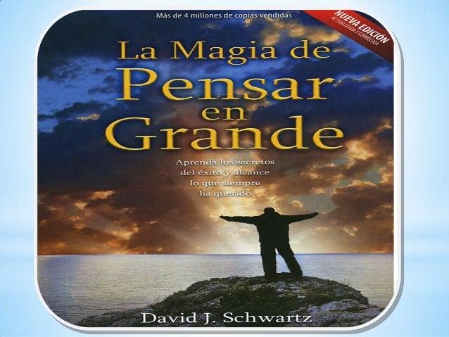Libro La Magia De Pensar En Grande Descargar Gratis Pdf