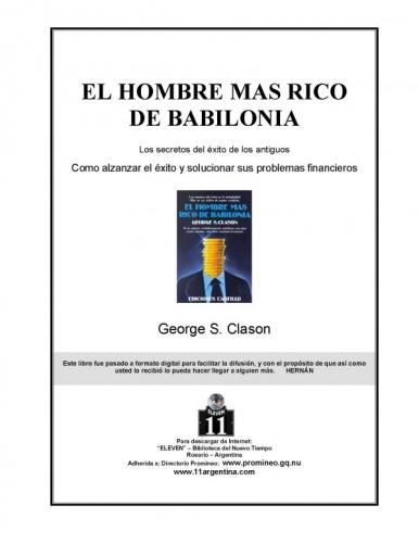 Libro El Hombre Mas Rico De Babilonia: Los Secretos Del